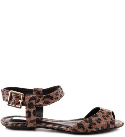 RASTEIRA ANKLE STRAP ANIMAL PRINT