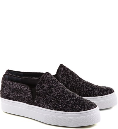 SLIP ON GLITTER BLACK