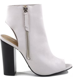 OPEN BACK BOOTS PEARL