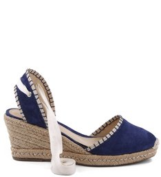 ESPADRILLE ANABELA ETHNIC DRESS BLUE
