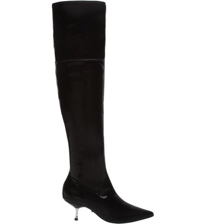 Bota Over The Knee Verniz Kitten Heel | Schutz