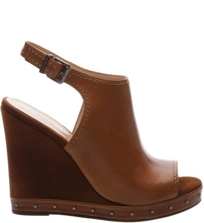 Sandália Anabela Leather Brown | Schutz