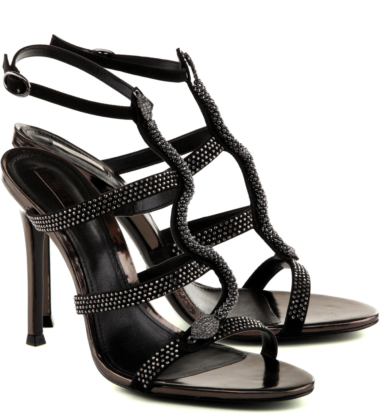 SANDÁLIA GORGEOUS SNAKE BLACK