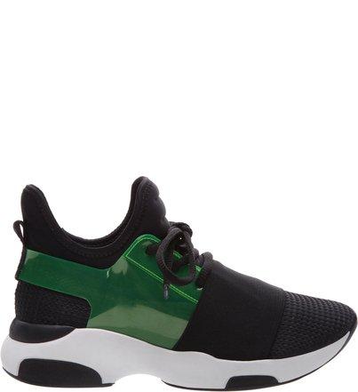 Pré-Venda Sneaker Stretch Curves Black & Green | Schutz