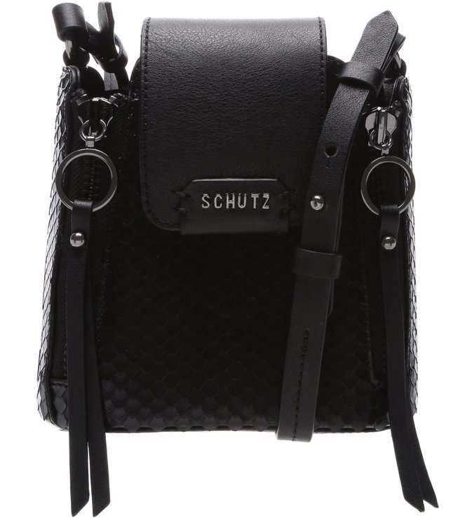 Mini Crossbody Rollis Bright Snake Black | Schutz