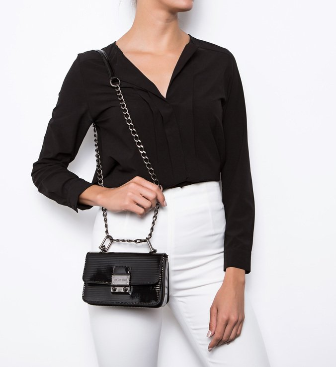 Mini Crossbody Live Love Bright Snake Black | Schutz