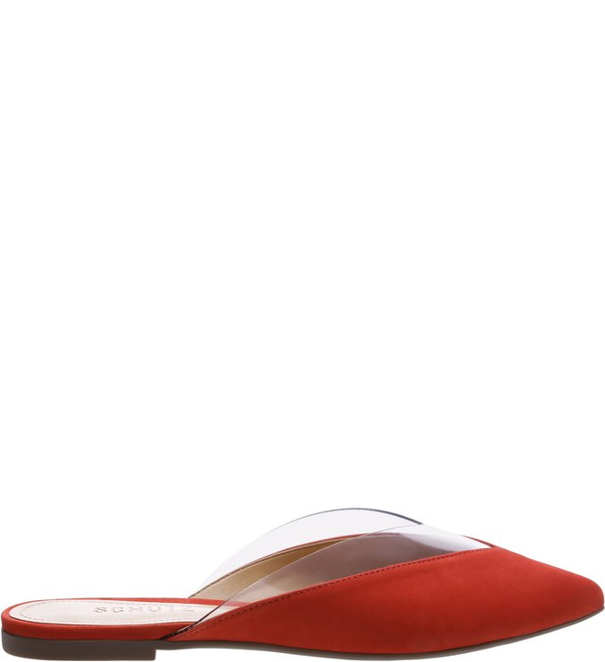 Flat Mule Crystal Red | Schutz